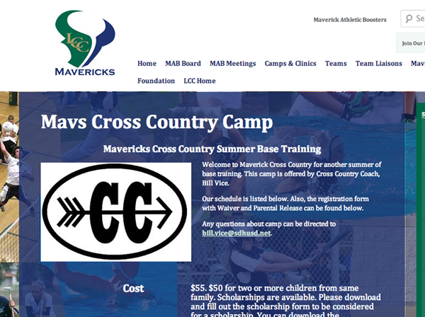 Maverick Athletics Summer Camp Flyer